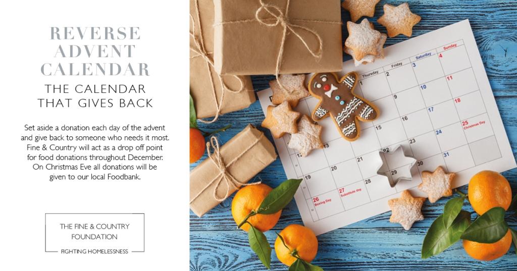 Reverse advent Calendar Fine and Country Foundation